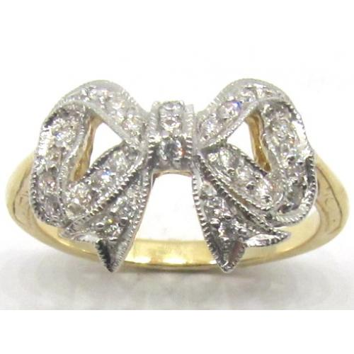 9ct Diamond Bow Ring Westende Jewellers