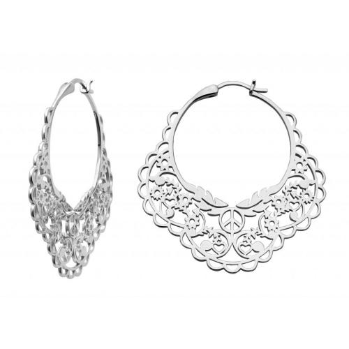 26c8dc223bd Karen Walker Stg Filigree Hoop Earrings image