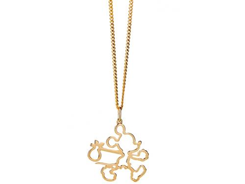 8cc1ef793f9c Limited Edition Karen Walker 9ct Runaway Mickey Outline Pendant ...