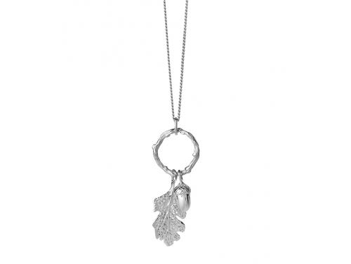 Karen Walker Stg Acorn & Leaf Loop Necklace image