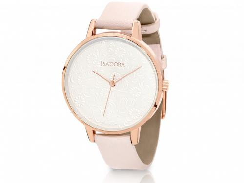 Isadora Andorra Rose & Pink Embossed Watch image