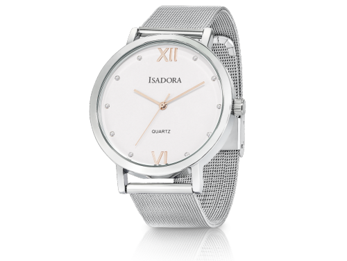 Isadora Merida Silver Watch With Rose Accents image
