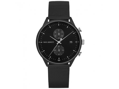 Paul Hewitt Chrono Line Black/Silver Watch image