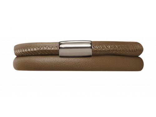Double Brown Leather Bracelet image