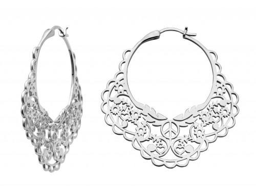 00bf189659b Karen Walker Stg Filigree Hoop Earrings - Westende Jewellers