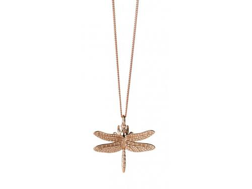 Karen Walker 9ct Rose Dragonfly Necklace image