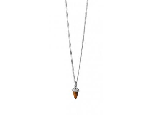 Karen Walker Stg Micro Acorn & Leaf Necklace image