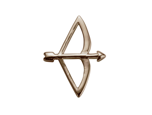 Stow 9ct Rose Bow & Arrow Charm image