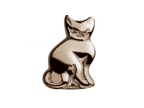 Stow 9ct Rose Cat Charm image