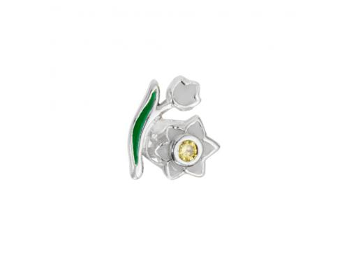 Stow Stg Enamel Lily Of The Valley Flower Charm image