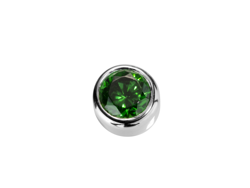 Stow Emerald CZ Virtue Charm image
