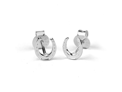 Stow Sterling Silver Lucky Horseshoe Earrings image