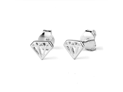 Stow Sterling Silver Diamond Earrings image