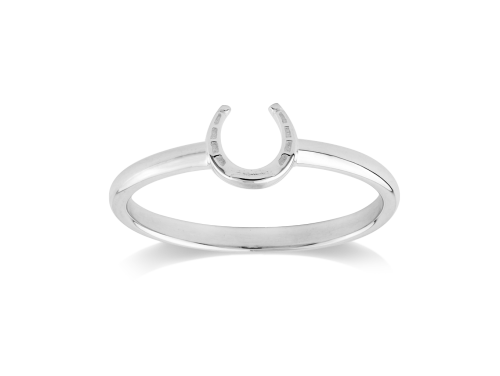 Stow Sterling Silver Lucky Horseshoe Ring image