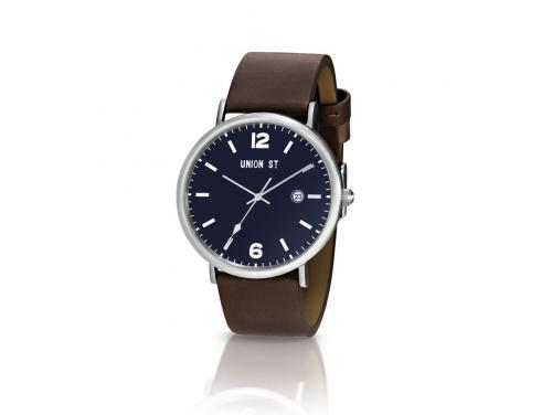 Union St. Joshua Silver and Brown Watch image