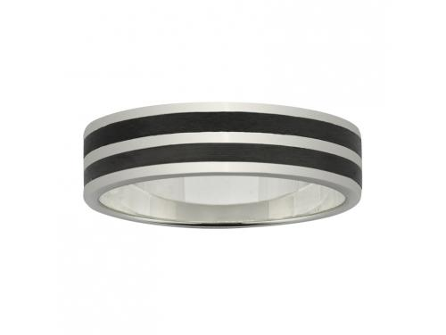 Ziro 9ct White Gold 6mm Stripe Wedder image