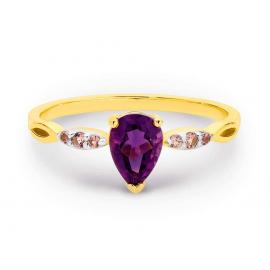 9ct Amethyst Pink Tourmaline Ring image