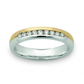 9ct Two Tone 4mm Diamond Wedder image
