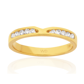 9ct Diamond V Shaped Cut Out Eternity Ring image