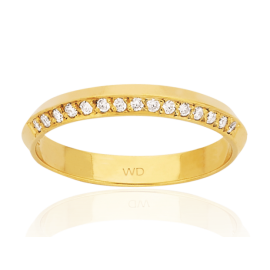 9ct Diamond Trilateral Eternity Ring image