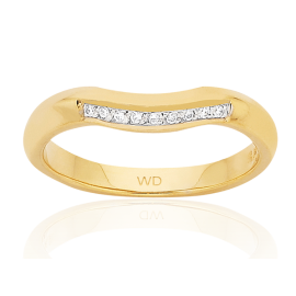 9ct Diamond Curved Trilateral Eternity Ring image