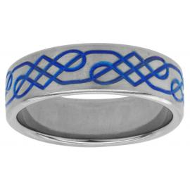 Titanium 7mm Two Toned Celtic Knot Wedder image