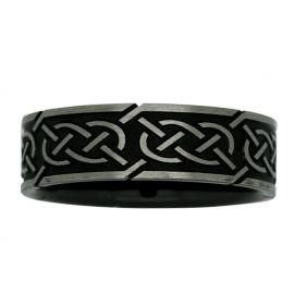 Ziro Two Tone 7mm Celtic Knot Wedder image