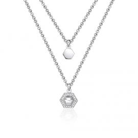 Kat Gee Sterling Silver Geometry Layered Necklace image
