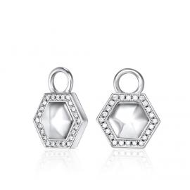 Kat Gee Sterling Silver Geometry Ear Charms image