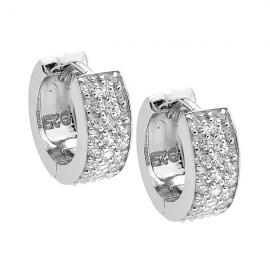 Ellani Stg CZ Huggie Earrings image