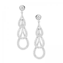 Ellani Stg CZ 3 Drop Earrings image