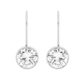 Ellani Stainless Steel CZ Hook Earrings image
