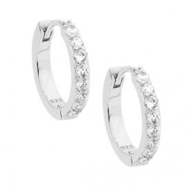 Ellani Stg CZ Hoop Earrings image