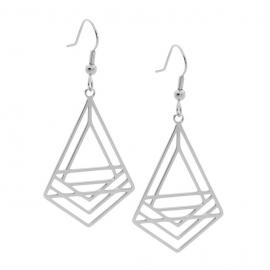 Ellani Stainless Steel Abstract Drop Earrings image