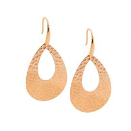 Ellani Rose Plated Oversized Drop Earrings image