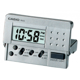 Casio Digital Traveller's Alarm Clock - Silver image