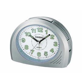 Casio Rounded Desk Alarm Clock - Grey image