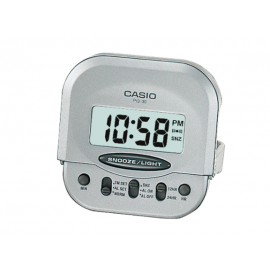 Casio Digital Pocket Alarm Clock - Silver image
