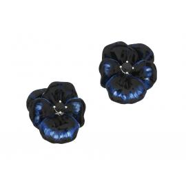 Karen Walker Stg Sapphire Enamel Flower Earrings image