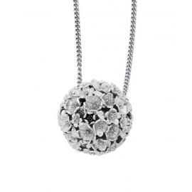 Karen Walker Stg Large Flower Ball Pendant image