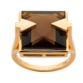 Karen Walker 9ct Ballistic Ring with Smokey Quartz image