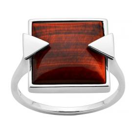 Karen Walker Stg Solar Flare Tigers Eye Ring image