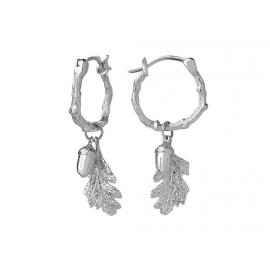 Karen Walker Stg Acorn & Leaf Mini Hoop Earrings image