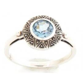 Sterling Silver Blue Topaz Ring image