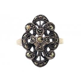 Sterling Silver Marcasite Dress Ring image