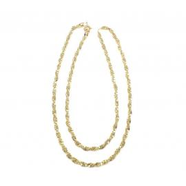 9ct Twisted Double Box Chain Neckalce - 52cm image