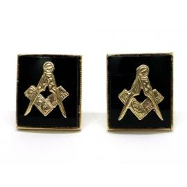 9ct Onyx Masonic Cufflinks image