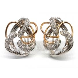 18ct Two Tone Moraglione Diamond Earrings image