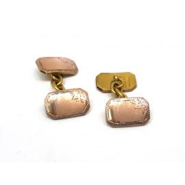9ct Rose Gold Rectangle Cufflinks image
