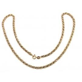 9ct Two Tone Twist Chain 44cm image